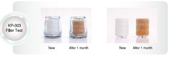 KP303 PR303 vedensuodatin ennen ja jälkeen