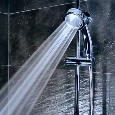 Showerhead Aroma Sense PR-SJW filters lime scale and rust, best water saving shower