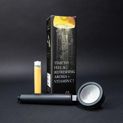 AS-9000RB matta musta silkkinen suihku loistavalla pesuteholla, joka suodattaa kalkkia ja rautaa