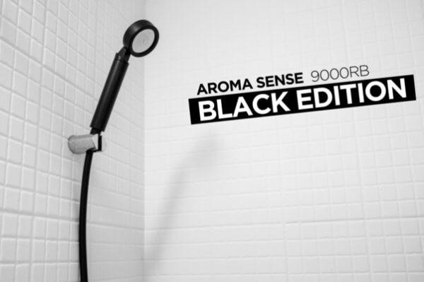 Aroma Sense 9000RB musta suihku mustalla letkulla