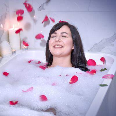 Aroma Sense shower head Rose aroma bath