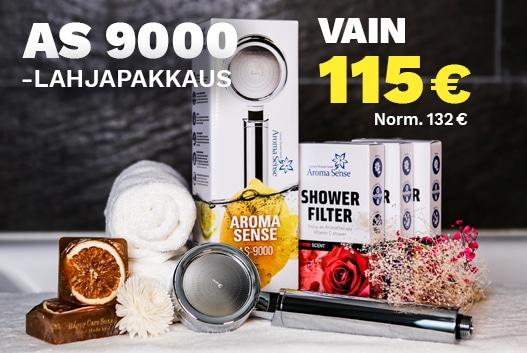 AS-9000 suihku lahjapakkaus lahjaksi ystävälle tai äitille