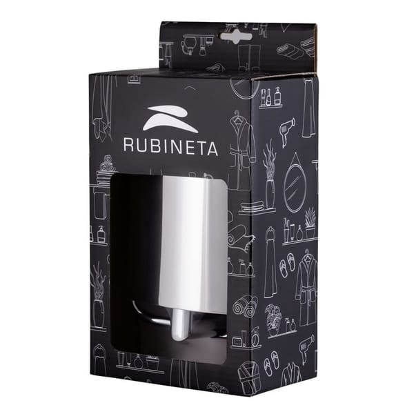Rubineta ESTE toilet paper rack, deck.Simple formatting combined with shape and practicality.Stainless steel. chromium.