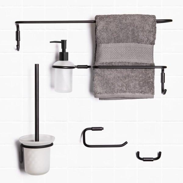 2-osainen pyyhekoukku yksinkertaisen kaunista ja käytännöllistä muotoilua.