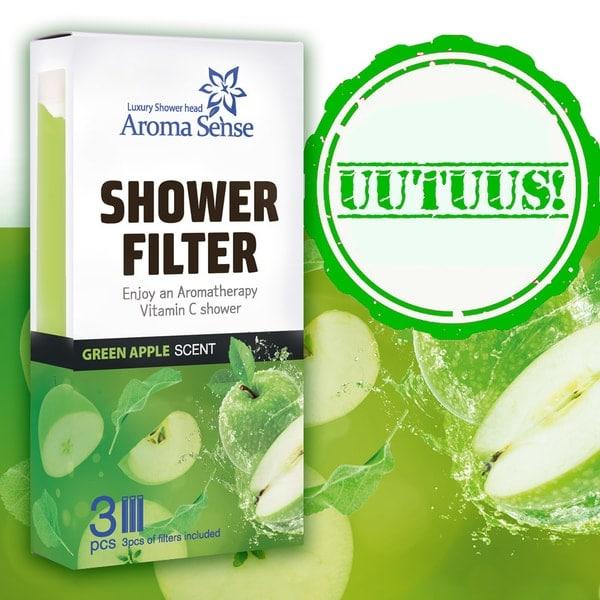 Vihreä omena uutuus aromageelipatruuna aroma sense suihkuun